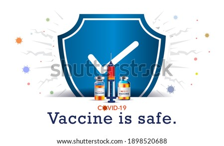 Vaccine. enhance Immunity. vaccination concept. vaccine is work and highly effective at preventing COVID19. Boost your immune system against corona virus. Background, ideas, concept