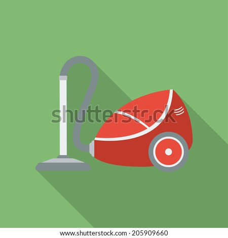 Vacuum Cleaner icon Modern Flat style with a long shadow