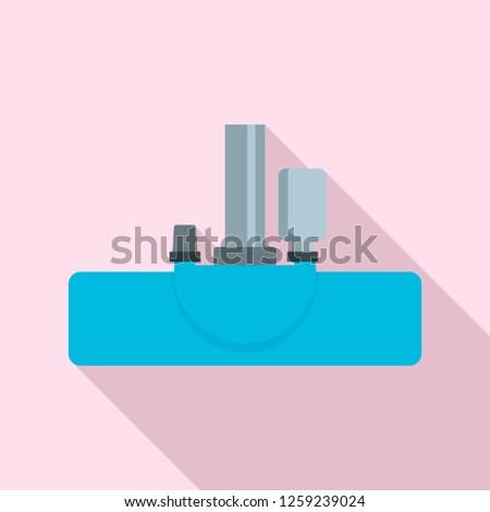 Vacuum cleanning head icon. Flat illustration of vacuum cleanning head vector icon for web design