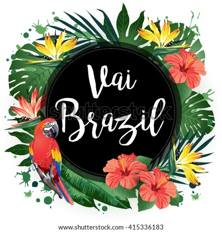 vai brazil  vector illustration