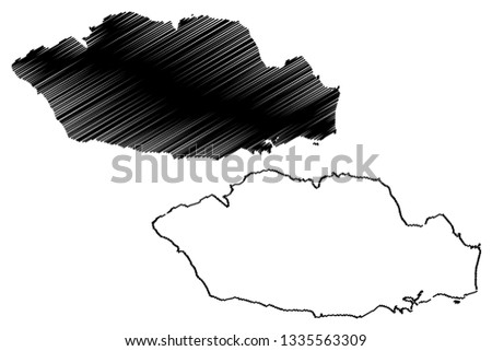 Vale of Glamorgan (United Kingdom, Wales, Cymru, Principal areas of Wales) map vector illustration, scribble sketch Vale of Glamorgan County Borough (The Vale) map