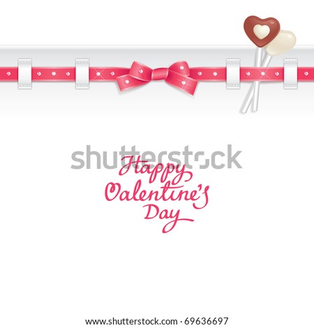 valentine background decorated