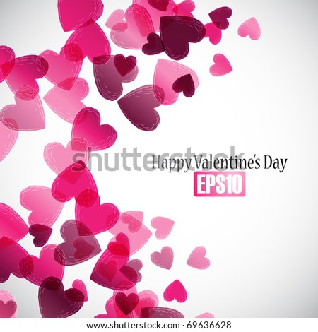 valentine background, eps10 - stock vector