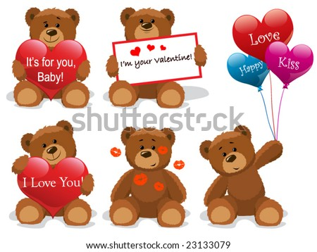 Valentine bears set vector Look through my new pictures.