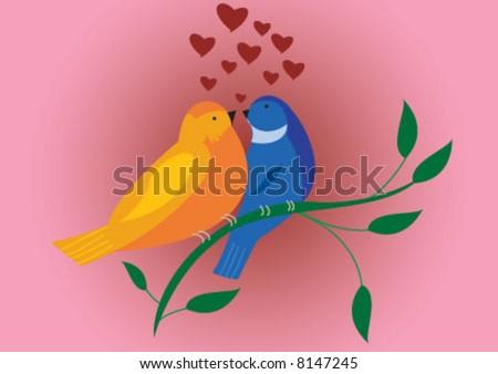 valentine birds is in love