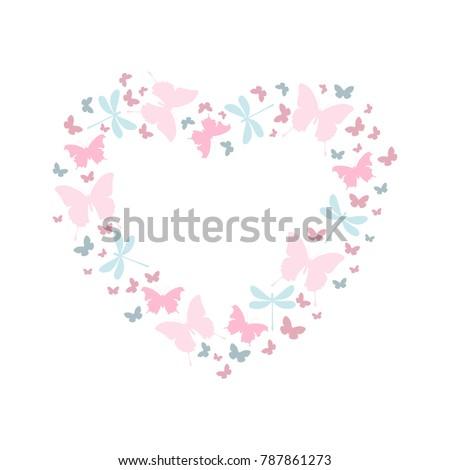valentine  butterfly heart in