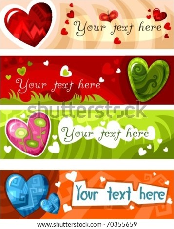 valentine card - stock vector