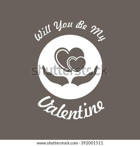 valentine card icon on dark