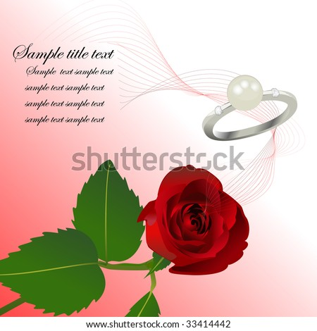 stock vector valentine card wedding card background Vector illustration
