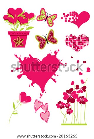 stock vector : Valentine clip-art