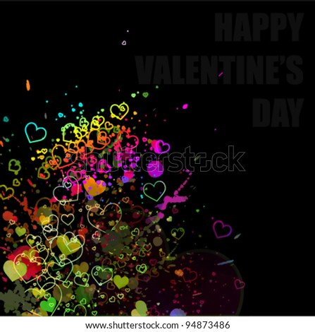 Valentine concept abstract watercolor splash background illustration