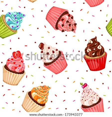 valentine cupcake seamless