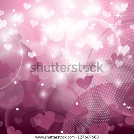 Valentine Day Background. Hearts. Vector Illustration.