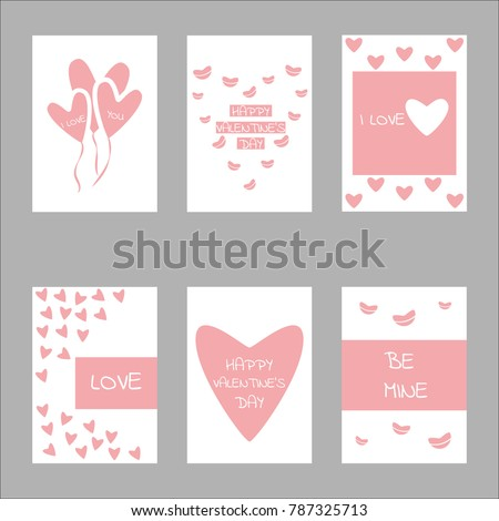 Valentine day concept design set collection. For banner, wallpaper, greeting card or poster and other. #787325713