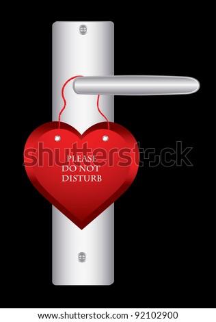 Valentine day door hanger