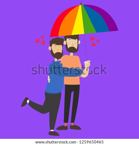 Valentine day. Gay couple vector set illustration. isolated cute homosexual spouses on a  background. cartoon character design of young  gay teenagers. Lgbtg community people hugging, being in love