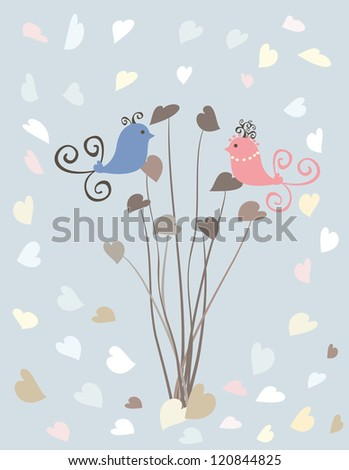 Valentine Day greeting card - stock vector