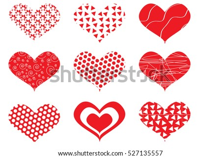 Valentine day hearts.
