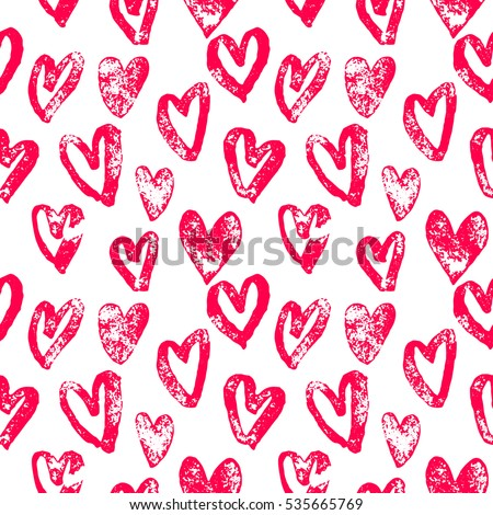Shutterstock Valentine Day hearts pattern. Background of hand drawn heart icons. Seamless pink valentines for 14 February love celebration. Marker or felt-tip pen sketch drawing. Greeting card design element