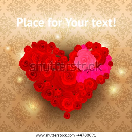 valentine day or wedding vector