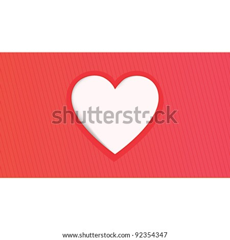 Valentine day's greeting card's design with heart
