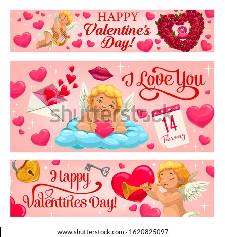 valentine day vector banners
