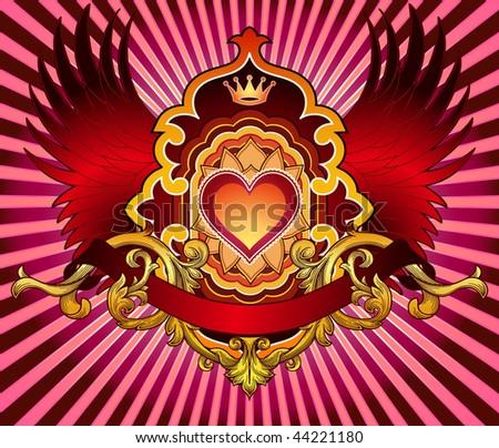 valentine emblem close up - lighter version