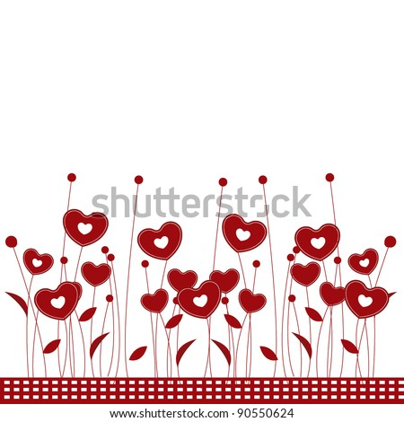 stock vector valentine flower background for romance wedding and