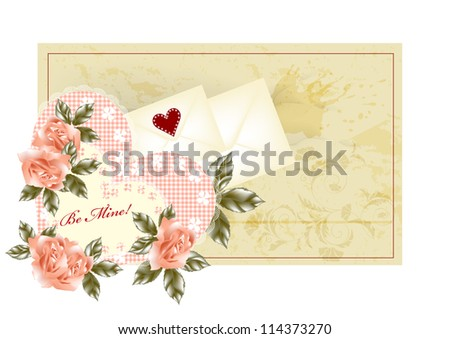 Valentine greeting card for your design