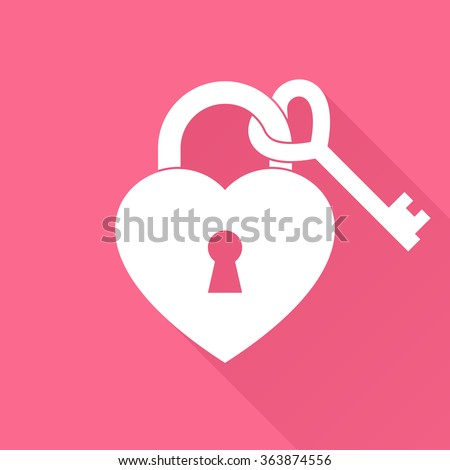valentine heart as lock with