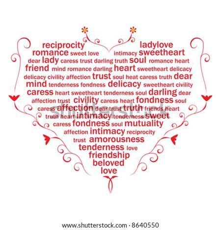 Love Heart Sweets. heart from sweet love