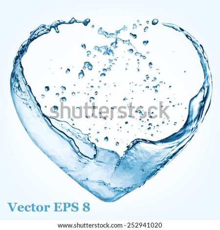 valentine heart made of blue
