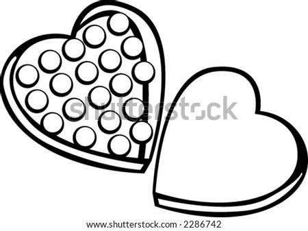 Heart Shaped Box Drawing Valentine Heart Shaped Box of