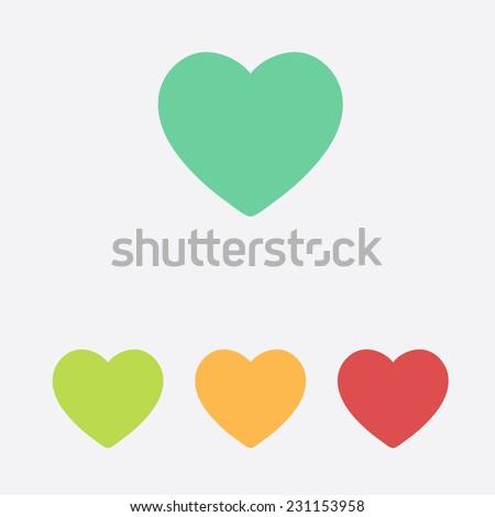 Valentine heart simbol. - Shutterstock ID 231153958