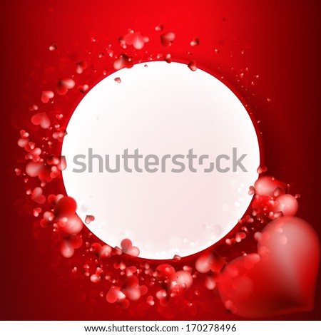 Valentine Hearts Background. Red Abstract Card. + EPS10 vector file