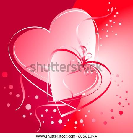 Valentine hearts linked
