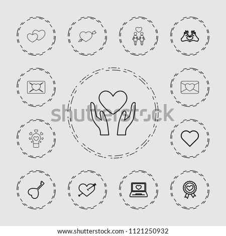 valentine icon collection of