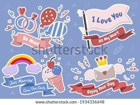 valentine illustration Vector for banner, poster, flyer