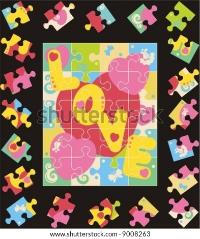 jigsaw puzzle template. jigsaw puzzle template and