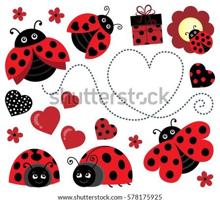 Ladybug catarinas download free vector art stock graphics images valentine ladybugs theme image 2 eps10 vector illustration stopboris Image collections