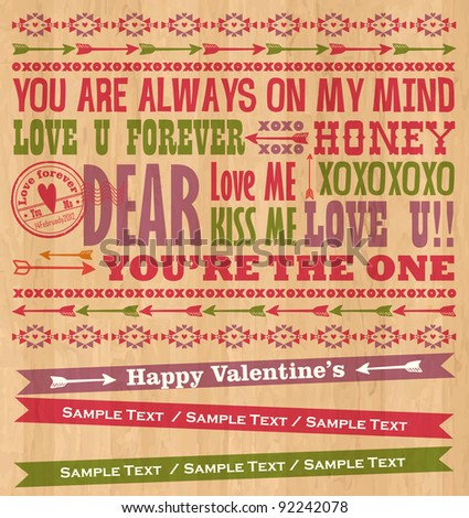 Valentine Letterpress Card