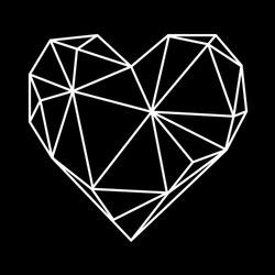 valentine love post card, geometric geometric heart