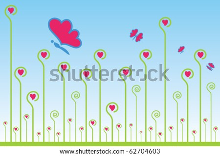 Valentine ornament. Vector illustration