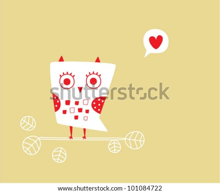 valentine owl card