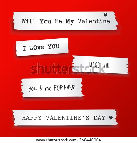 valentine paper banner with