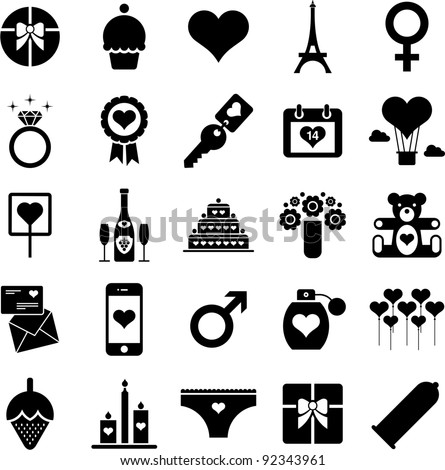 valentine pictograms