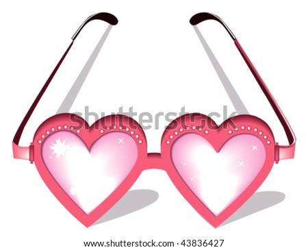 Valentine pink glasses