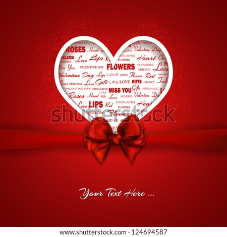 stock vector : Valentine's Card