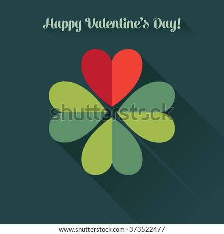 valentine's card  four leaf