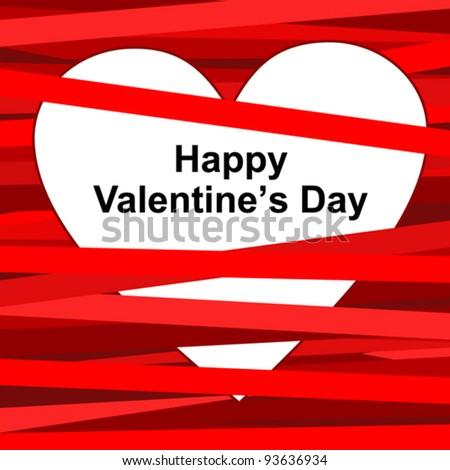 Valentine's card. Valentine's background. Heart vector illustration.